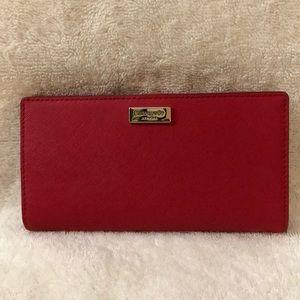 Kate Spade red bifold wallet